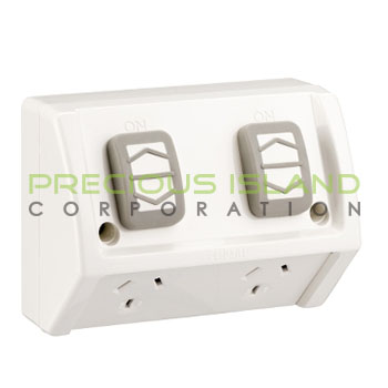 10A 250V/AC Double Socket Box